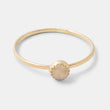 Rose quartz & solid gold stacking ring