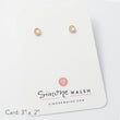 Rose quartz & solid gold stud earrings