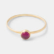 Ruby & solid gold stacking ring