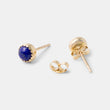 Lapis lazuli solid gold stud earrings