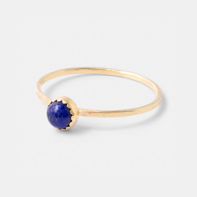 Lapis lazuli and gold stacking ring handmade by Australian jewellery designer Simone Walsh.