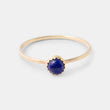Simple gold and gemstone stacking ring with lapis lazuli in our Australian online jewellery shop.