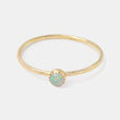 Opal & solid gold stacking ring