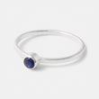 Handmade sapphire and sterling silver stacking ring by Australian jeweller Simone Walsh.