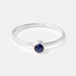 Silver ring with sapphire gemstone in our Australian jewellery shop.