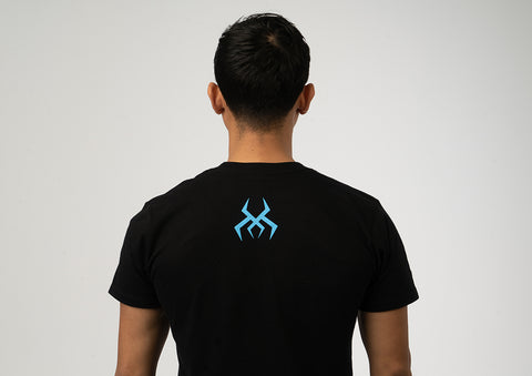 Image of Black Logo Tee (Blue Print)