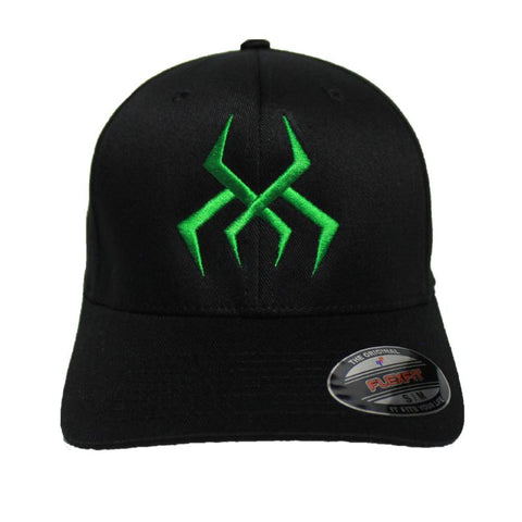 Image of Bug Logo Hat [Black] (Green Print)