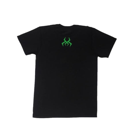 Black Logo Tee (Green Print)