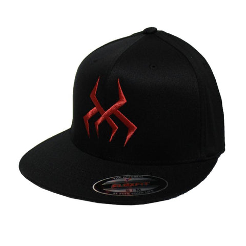 Image of Bug Logo Hat [Black] (Red Print)
