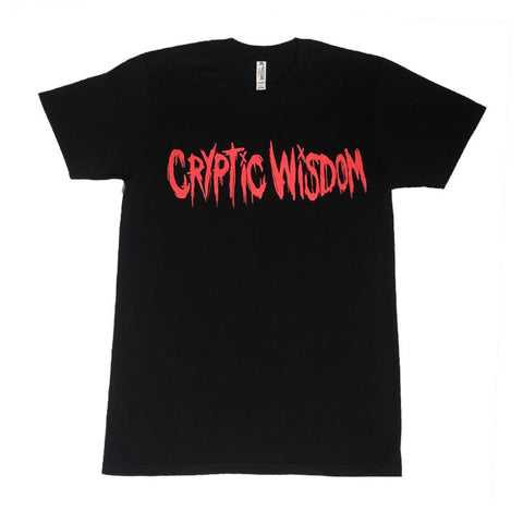 Black Logo Tee (Red Print)