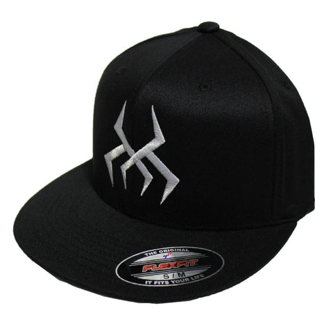 Image of Bug Logo Hat [Black] (White Print)