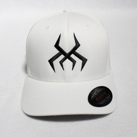 Image of Bug Logo Hat [White] (Black Print)