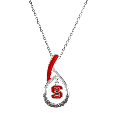 NC State Wolfpack Teardrop Logo Necklace - Blazin' Buddy