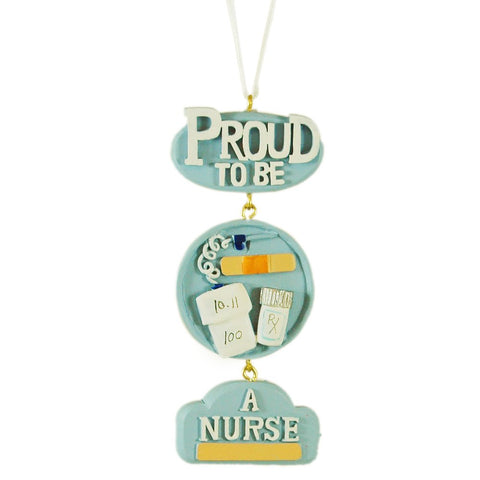Proud To Be A Nurse Hanging Christmas Tree Ornament - Blazin' Buddy
