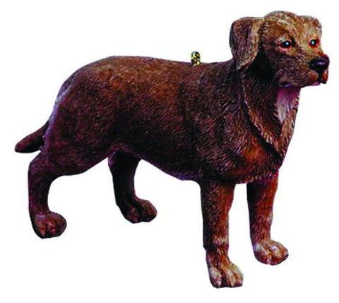 JWM Collection Chocolate Lab Resin Ornament' - Blazin' Buddy