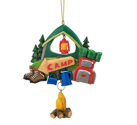 "JWM Collection Camping Ornament 4.25"" - Blazin' Buddy"
