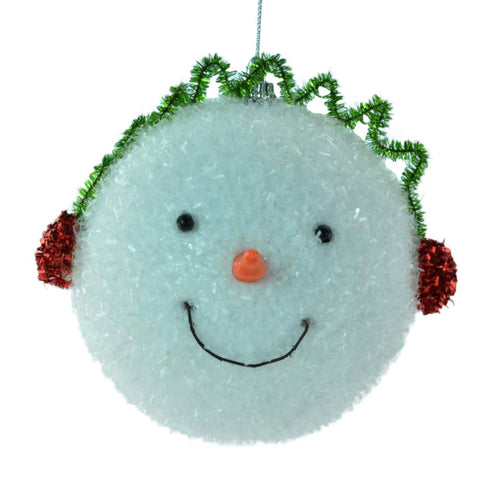 Styrofoam with Tensil Snowman Head Hanging Christmas Ornaments - Set of 4 - Blazin' Buddy