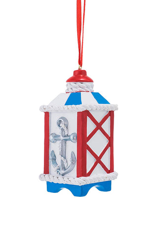 JWM Collection Nautical Lantern with Anchor Christmas Ornament - Blazin' Buddy