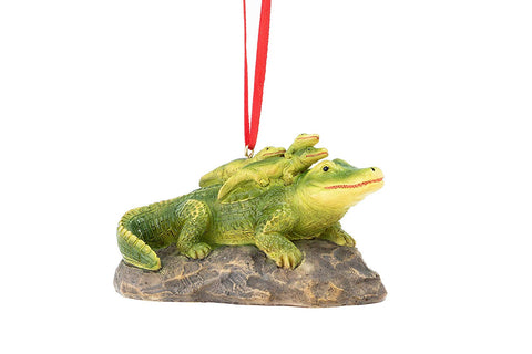 "JWM Collection Alligator Mother/Baby Ornament 4"" - Blazin' Buddy"