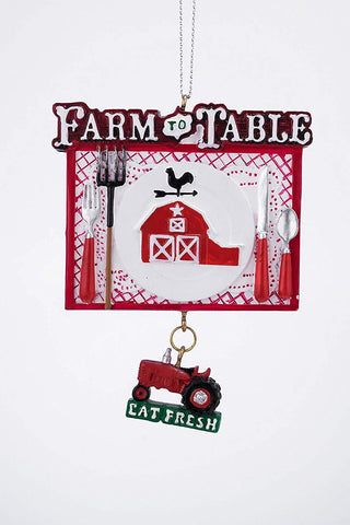 "Farm to Table Ornament 3.5"" - Blazin' Buddy"