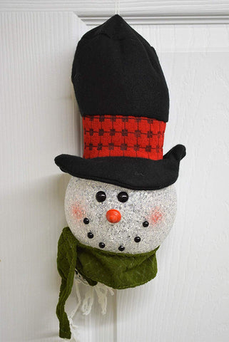"JWM Collection Light Up LED Snowman Head Christmas Ornament 10"" - Blazin' Buddy"