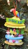 JWM Collection Tiki Bar with Parrot Christmas Ornament - Blazin' Buddy