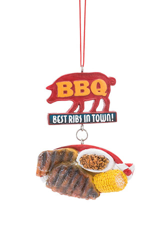 "JWM Collection BBQ Ornament ""Best Ribs In Town"" - Blazin' Buddy"