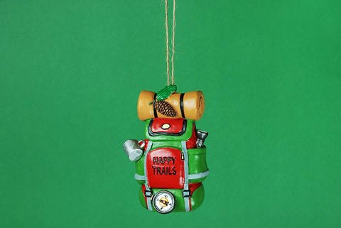 "JWM Collection 3.5"" Happy Trails Backpack Christmas Ornament - Blazin' Buddy"