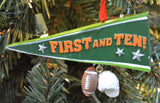 JWM Collection Football Pennant with Shoes Christmas Ornament - Blazin' Buddy