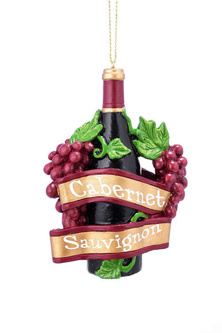 JWM Collection Cabernet Wine Bottle 3.75 Inch Resin Christmas Ornament - Blazin' Buddy
