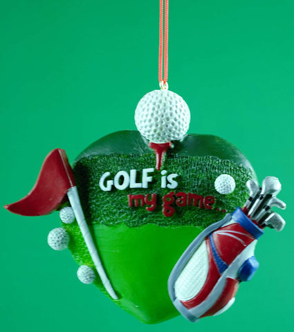 "Golf Is My Game Christmas Ornament 4.25"" - Blazin' Buddy"