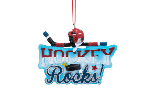 JWM Collection Hockey Rocks Ornament - Blazin' Buddy