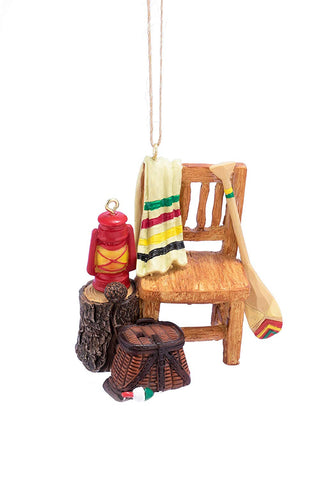 "Rustic Chair Ornament 3"" - Blazin' Buddy"