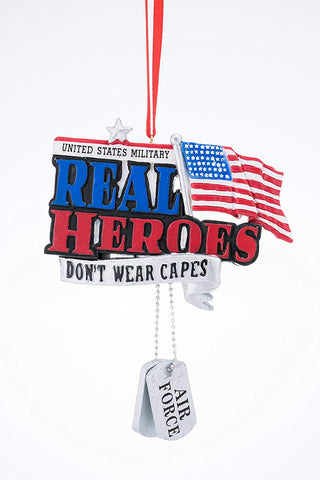 "JWM Collection  ""Real Men Don't Wear Capes"" Ornament - Blazin' Buddy"