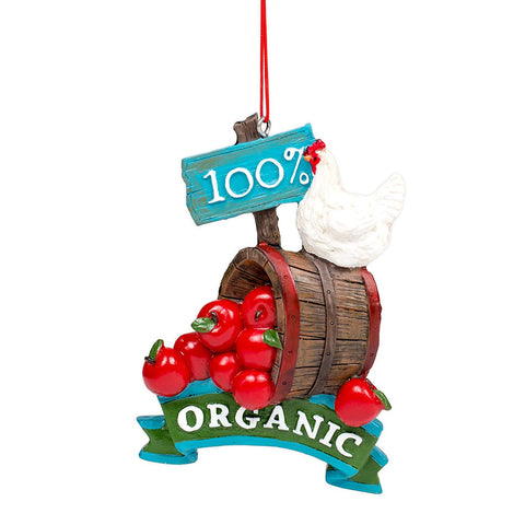 JWM Oxbay 100 Percent Organic Apples 4 x 3 Resin Stone Christmas Ornament - Blazin' Buddy