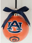 Auburn Tigers Ceramic Ball Ornament - Blazin' Buddy