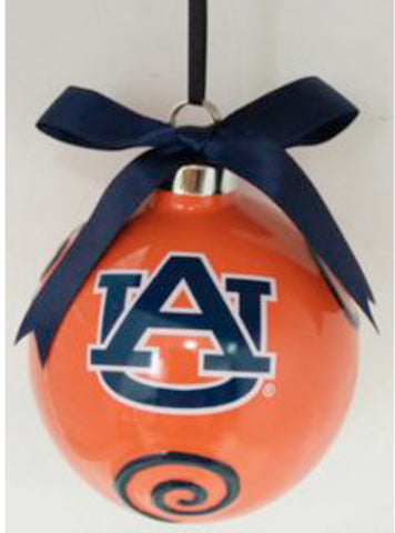 Auburn Tigers Ceramic Ball Ornament