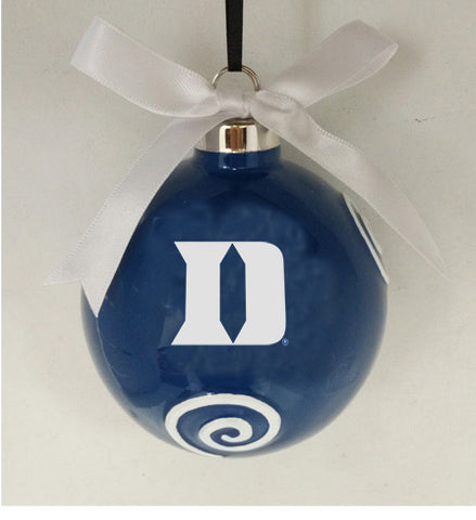 Duke Blue Devils Ceramic Ball Ornament - Blazin' Buddy
