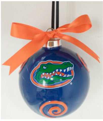 Florida Gators Ceramic Ball Ornament - Blazin' Buddy