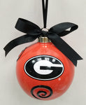 Georgia Bulldogs Ceramic Ball Ornament