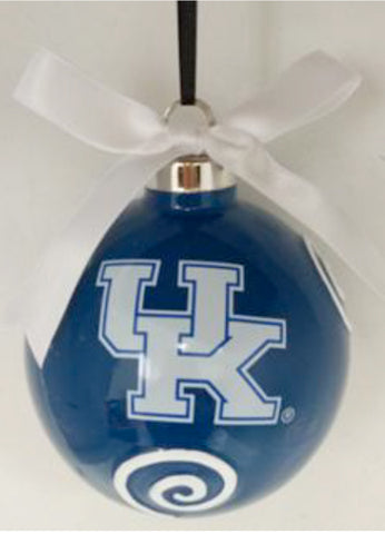 Kentucky Wildcats Ceramic Ball Ornament - Blazin' Buddy