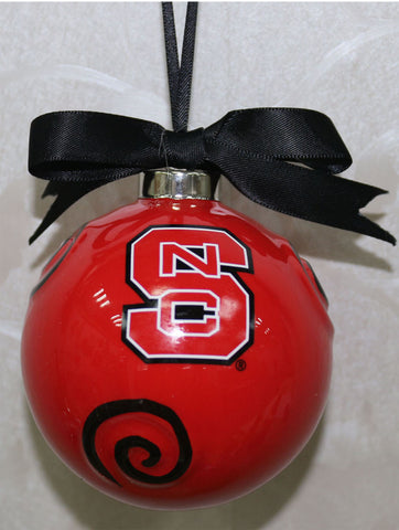 North Carolina State Wolfpack Ceramic Ball Ornament
