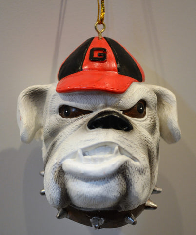 Georgia Bulldogs Mascot Head Ornament