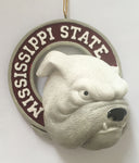 Mississippi State Bulldogs Mascot Head Ornament