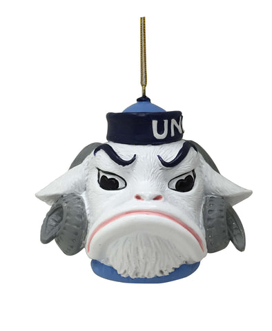 North Carolina Tar Heels Mascot Head Ornament