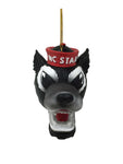 North Carolina State Wolfpack Mascot Head Ornament