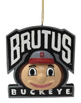 Ohio State Buckeye Mascot Head Ornament - Blazin' Buddy