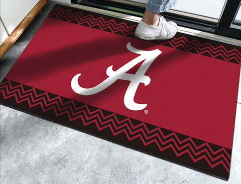 Alabama Crimson Tide Chevron Door Mat - Blazin' Buddy