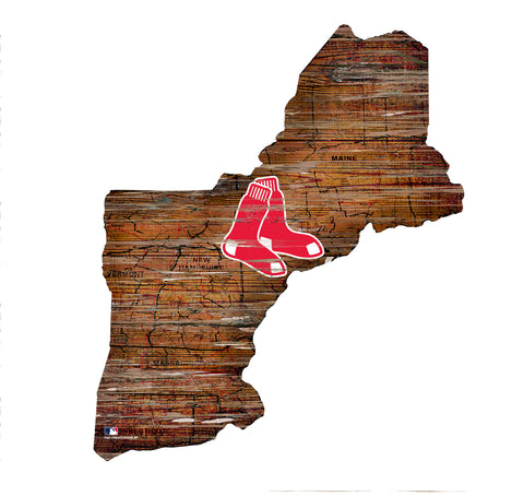 Boston Red Sox State Map Wall Decor
