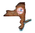 New York Yankees State Map Wall Decor - Blazin' Buddy